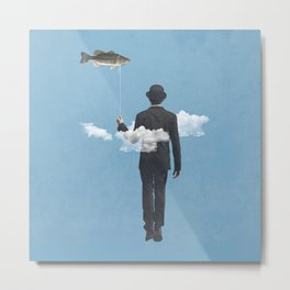 fly fishing Metal Print