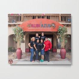 Georgie's Alibi/Azul Family Metal Print
