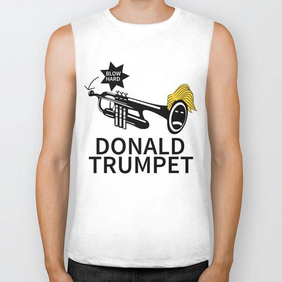 Donald Trump Trumpet Biker Tank