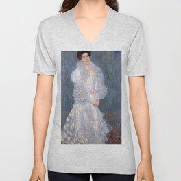 "Gustav Klimt ""Portrait de Hermine Gallia"" Unisex V-Neck"