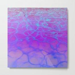 Purp Pink Blue Glimmering Waters Metal Print