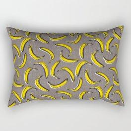 Pop Art Bananas - Gray Rectangular Pillow