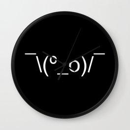 I Dunno LOL Emoticon ¯\(º_o)/¯ Japanese Kaomoji Wall Clock