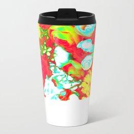 Red Coral Metal Travel Mug