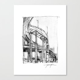 Bridge Underside Canvas Print