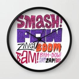 Smash! Pow! Zing! Boom! Wall Clock