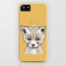 Little King Fox iPhone Case