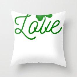 New St. Patrick's Day Love Shamrock Throw Pillow