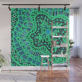 Doodle 16 Blue Wall Mural