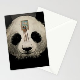 Panda window cleaner 03 Stationery Cards