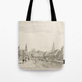 Cornelis Pronk - Hoendiep, near the Gate to Groningen (1755) Tote Bag
