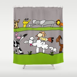 CuteAnimals Shower Curtain