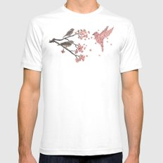 Blossom Bird  Mens Fitted Tee White SMALL