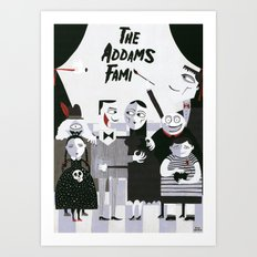 ADDAMS FAMILY Art Print