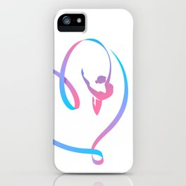 Rhythm of a Gymnast's Heart iPhone Case