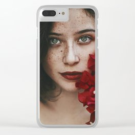 Freckle art Clear iPhone Case