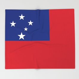 Samoan flag - Authentic version to scale and color Throw Blanket