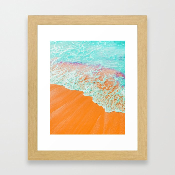 Coral Shore #photography #digitalart Framed Art Print