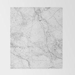 Nordic White Marble Throw Blanket