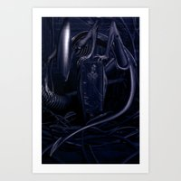 alien Art Prints featuring Alien by MatoSwamp