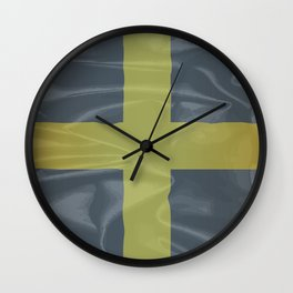 Silk Flag of Saint David Of Wales Wall Clock