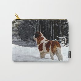 St Bernard in the snow Carry-All Pouch