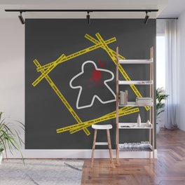Dead Meeple Crime Scene Wall Mural