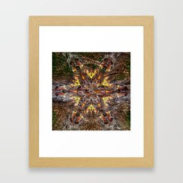 Out of the flames comes life mandala Framed Art Print