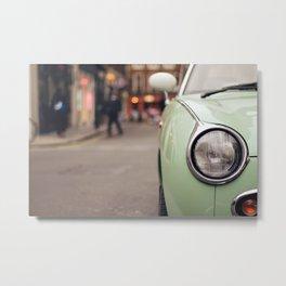 The green car Metal Print