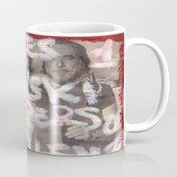 bukowski Mugs featuring Bukowski by Ibbanez