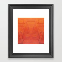 Round and About Coral Framed Art Print