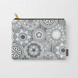 mandala cirque metal white Carry-All Pouch
