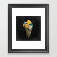 Galactic Ice Cream Framed Art Print