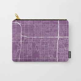 Tempe Map, USA - Purple Carry-All Pouch