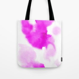 Magenta Watercolour Tote Bag