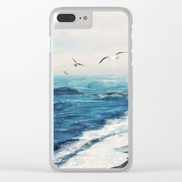 Watercolor Coast Clear iPhone Case