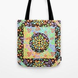 Filigree Floral Patchwork (printed) Tote Bag
