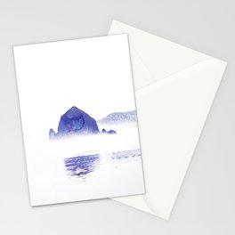 Haystack Rock watercolor Stationery Cards