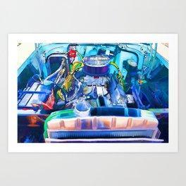 Automotive engine Art Print