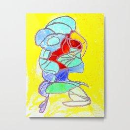 Faucet Blue Metal Print