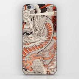Japanese tattoo Typhoon dragon iPhone Skin