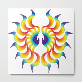 Phoenix Wings Metal Print