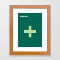Positivism Framed Art Print