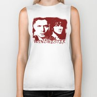 winchester Biker Tanks featuring Team Winchester by Panda Cool