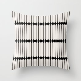 Minimal Geometric Pattern - Black and White Throw Pillow