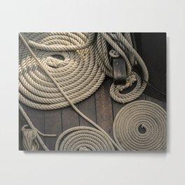 Coiled Dock Lines Metal Print