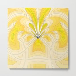 Yellow Fountain Metal Print