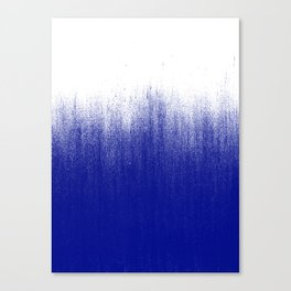 Ink Blue Ombré Canvas Print