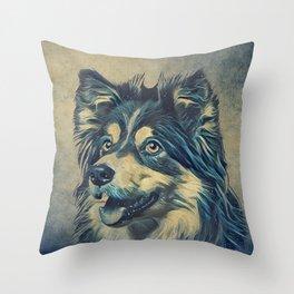 Shetland Sheepdog Painting Throw Pillow