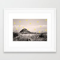 monkey island Framed Art Prints featuring Island by the penny drops